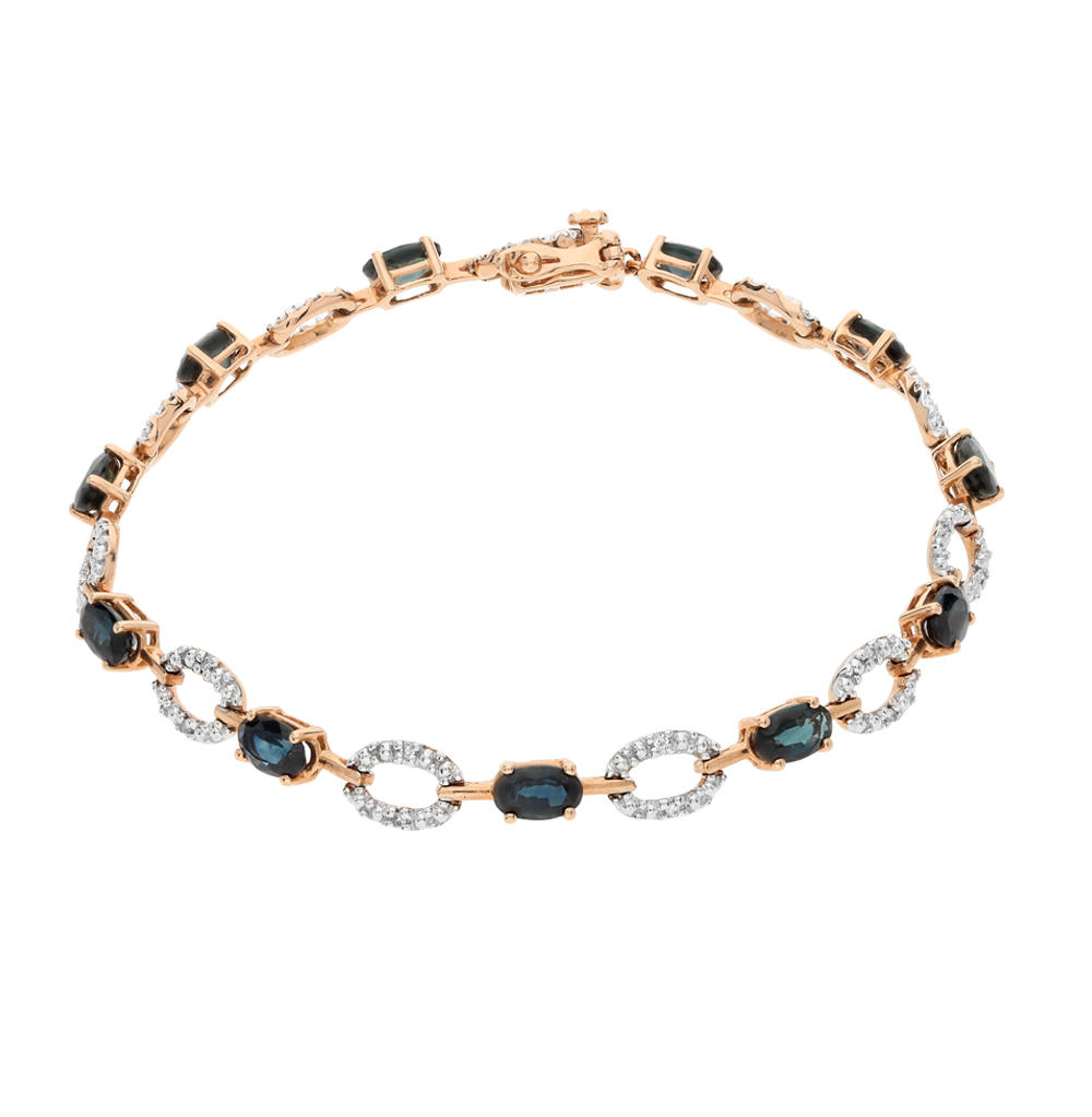 Фото «золотой браслет с бриллиантами и сапфирами»