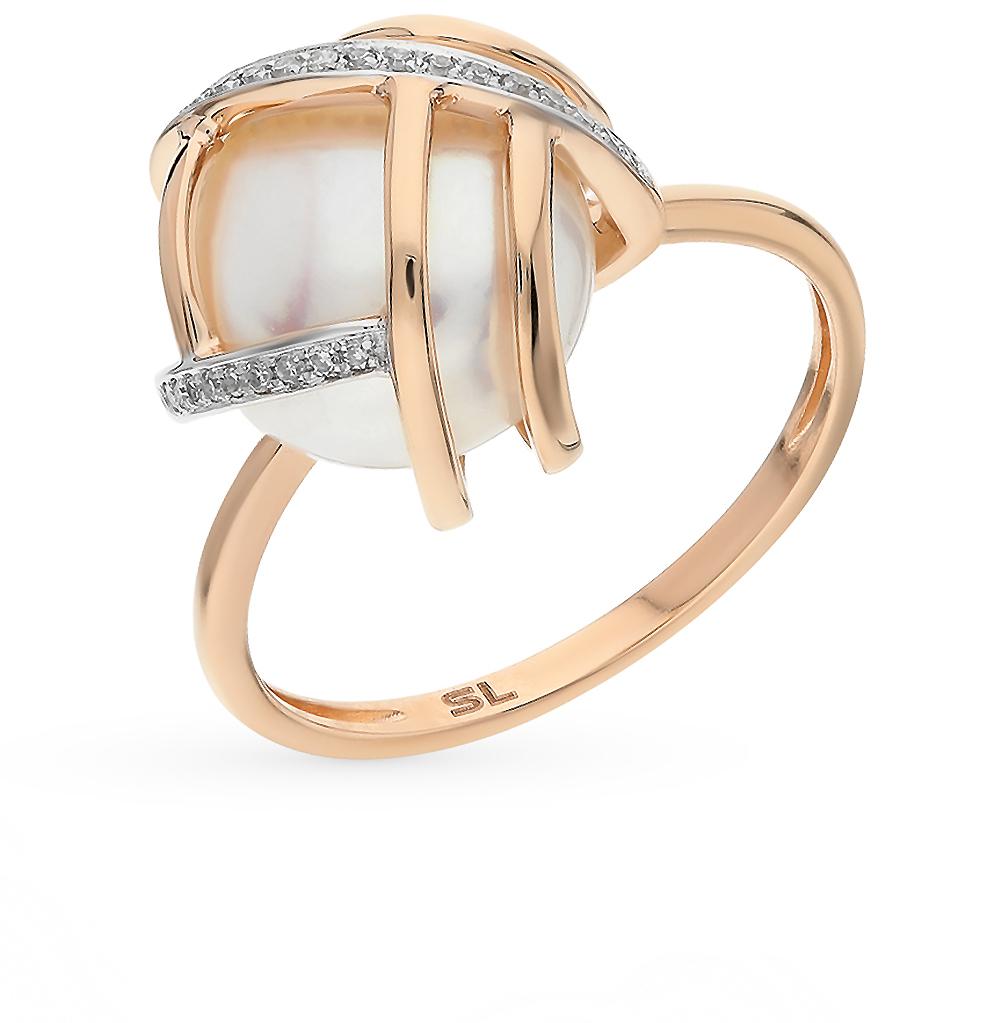 Фото «золотое кольцо с бриллиантами и жемчугами»