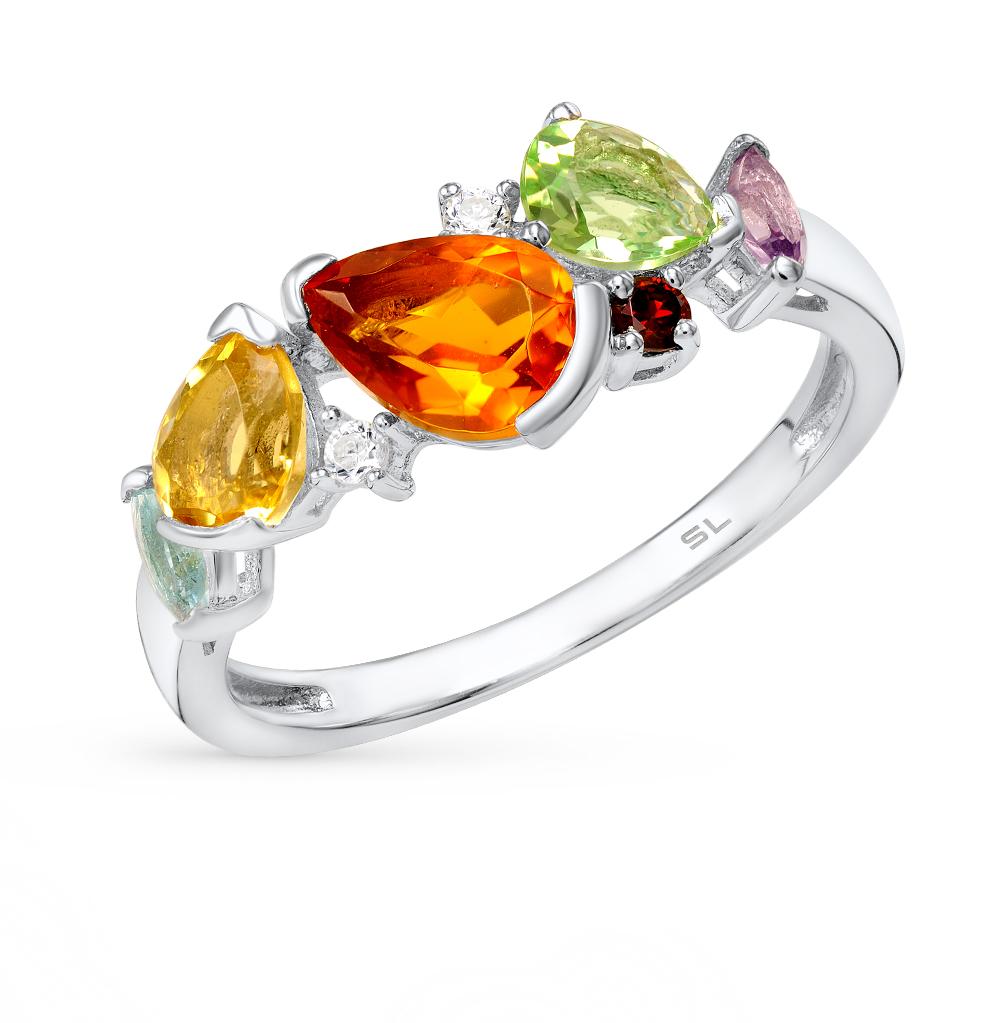Фото «кольцо с алпанитами и фианитами»