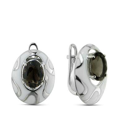Фото «серебряные серьги с алпанитами и эмалью»