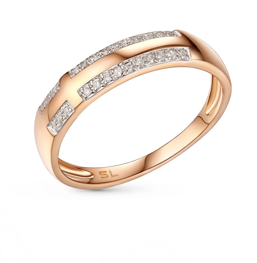 Фото «золотое кольцо с бриллиантами, аметистами, гранатами и перламутром»