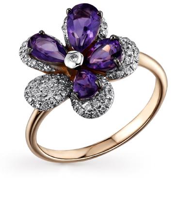 Фото «золото кольцо с бриллиантами и аметистами»