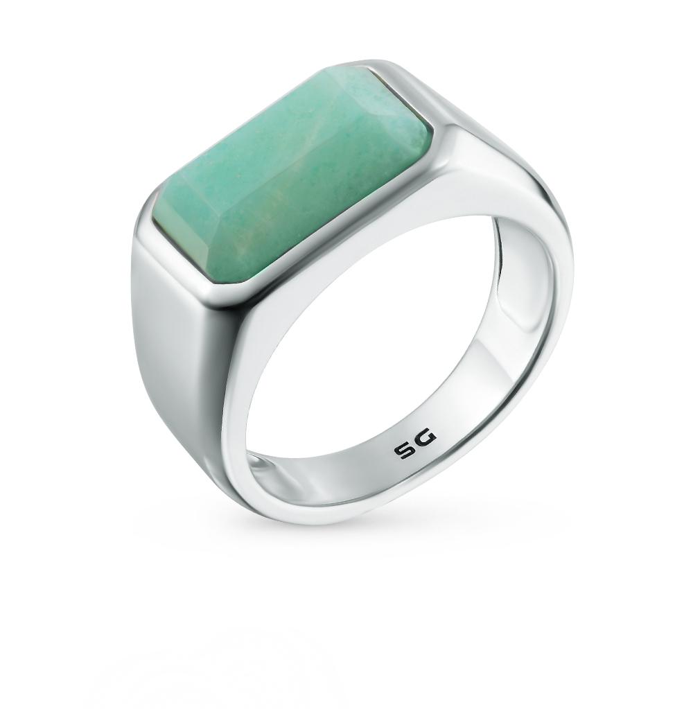 Фото «кольцо из серебра с изумрудом синтетическим»