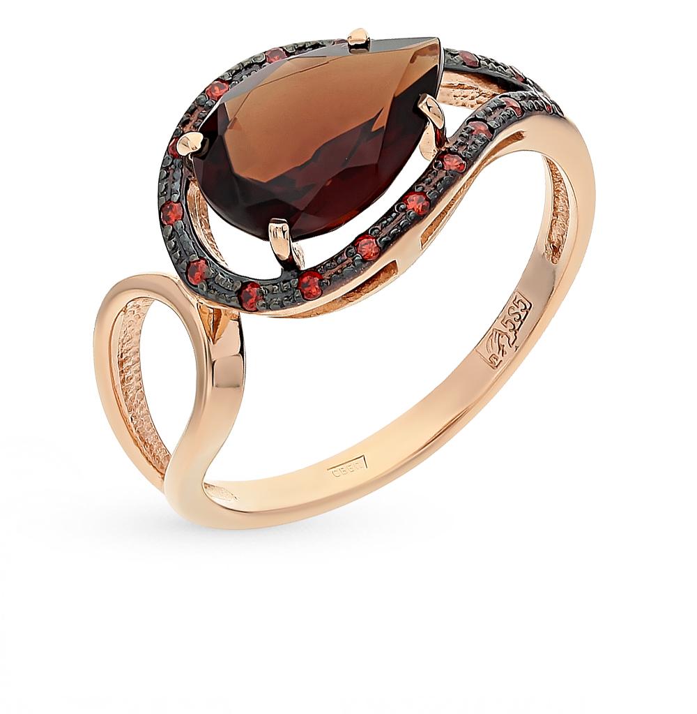 Фото «золотое кольцо с ситалами и гранатами»