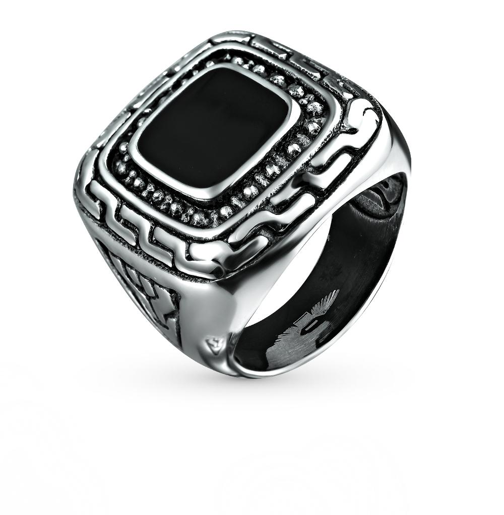 Фото «кольцо из серебра с сталью и эмалью»