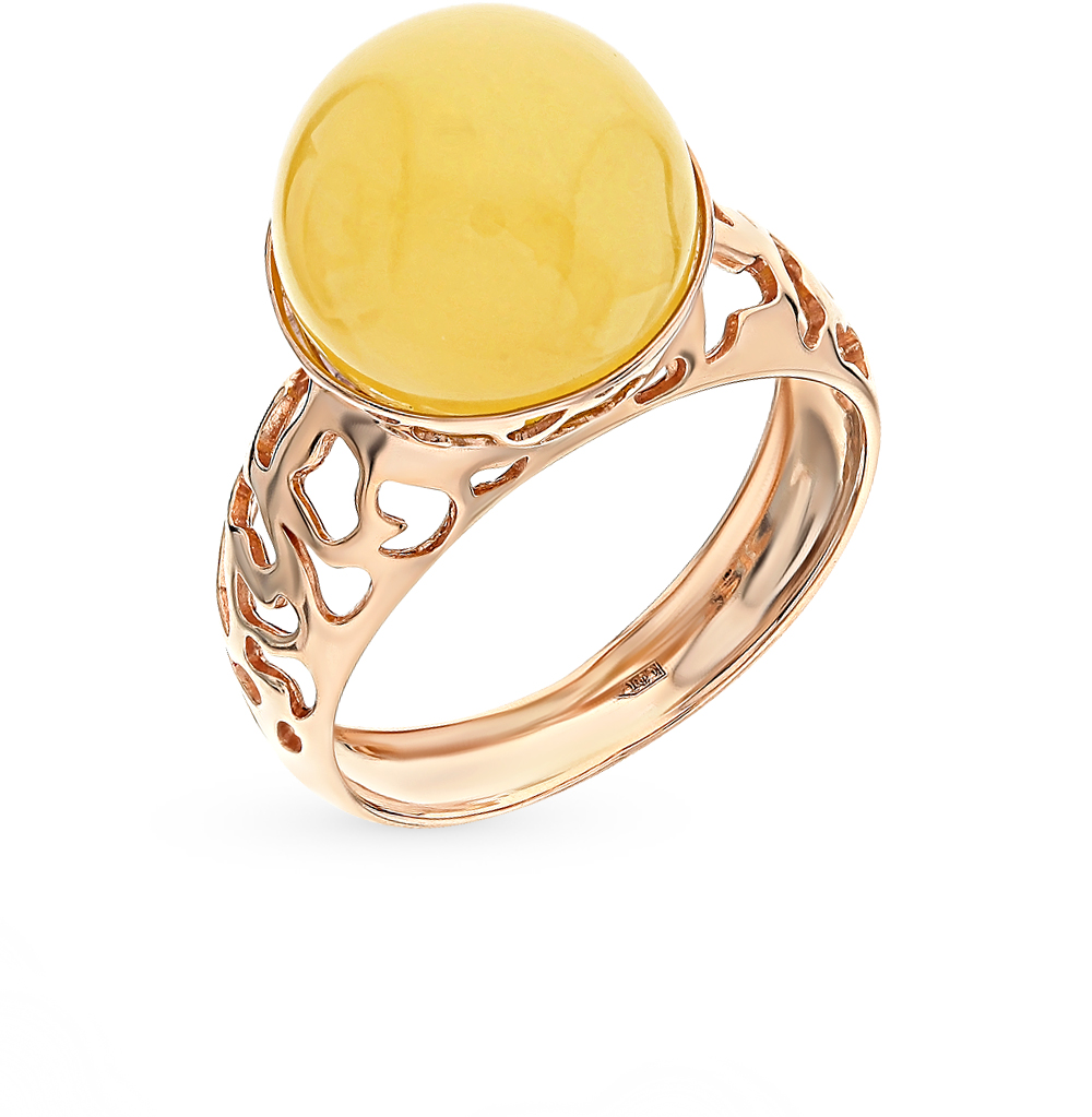 Фото «золото кольцо с янтарём»