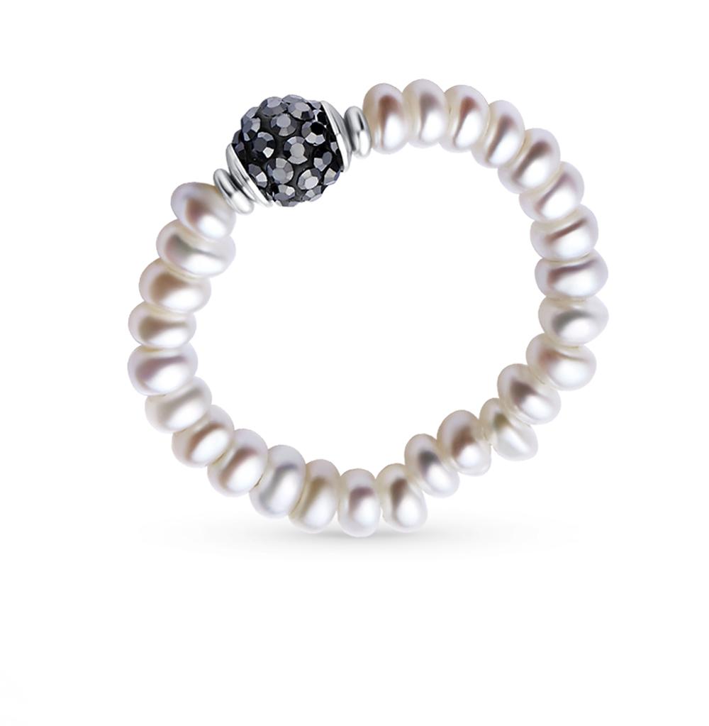 Фото «Металл кольцо с алпанитами и жемчугом»