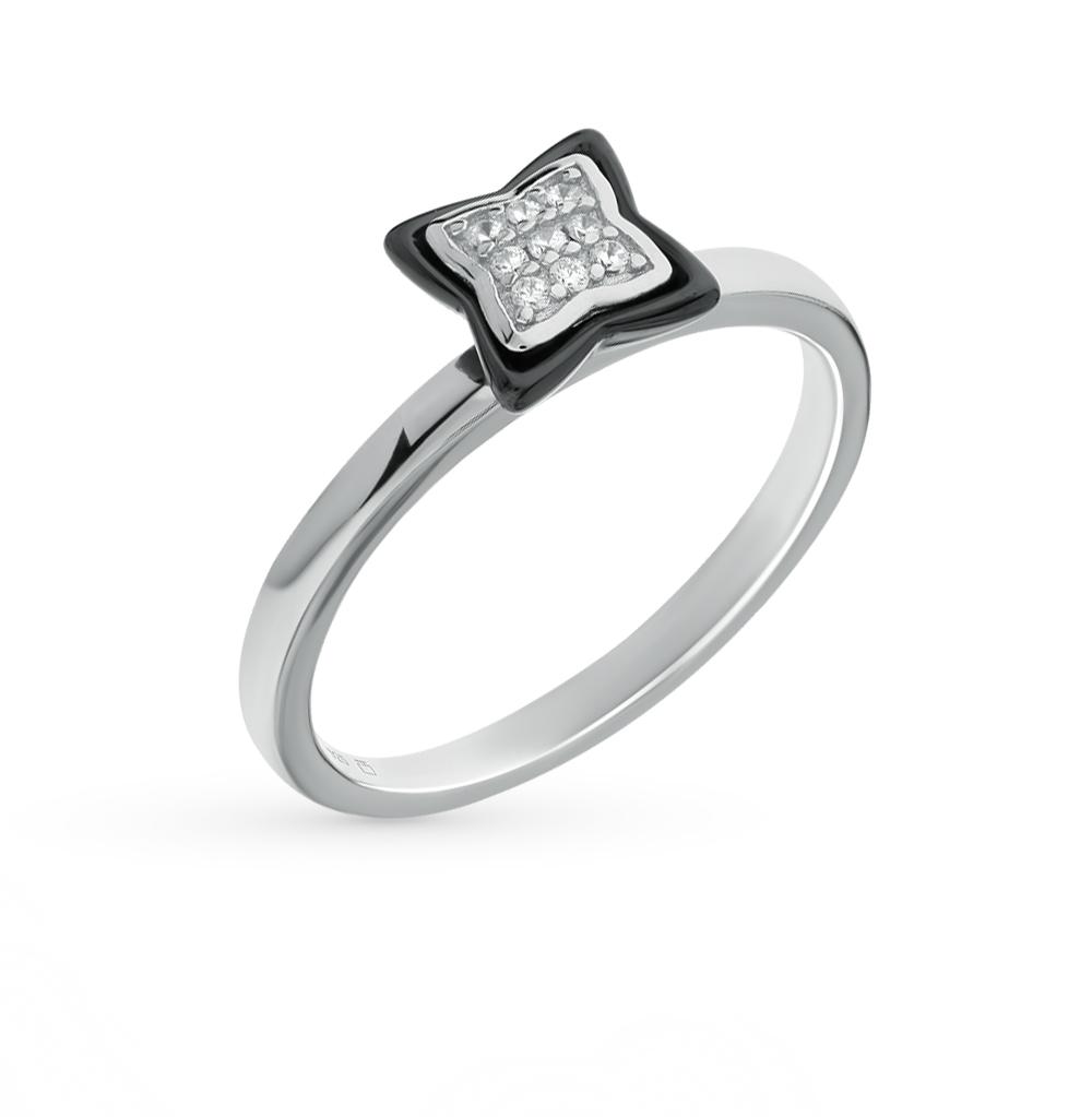 Фото «кольцо с фианитом и керамикой»