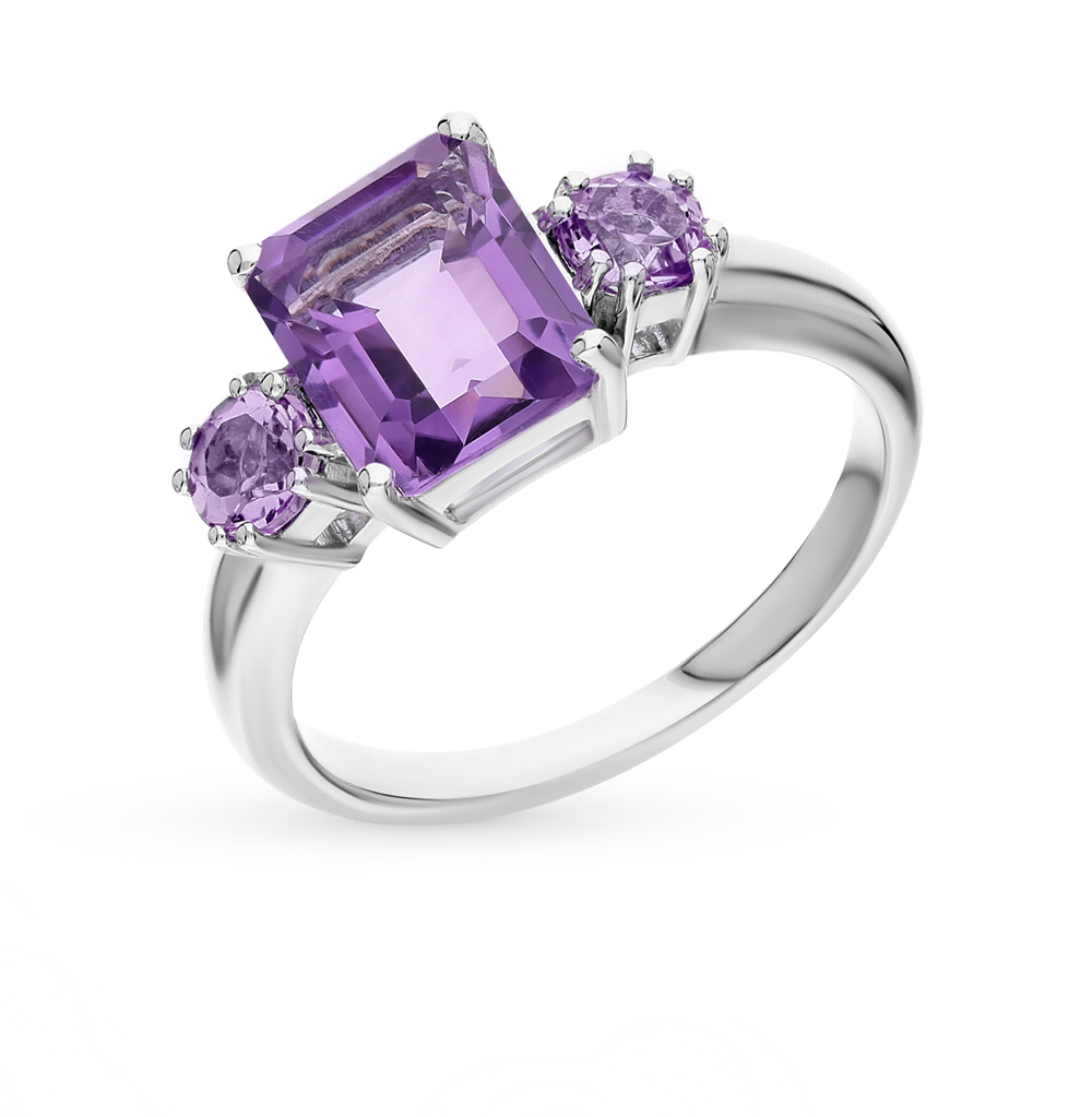 Фото «серебряное кольцо с аметистом»