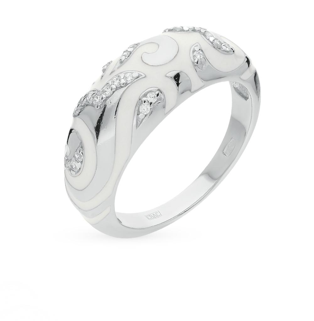Фото «золотое кольцо с бриллиантами, фианитами и эмалью»