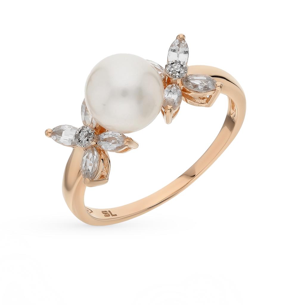 Фото «золотое кольцо с бриллиантами, жемчугом и сапфирами»