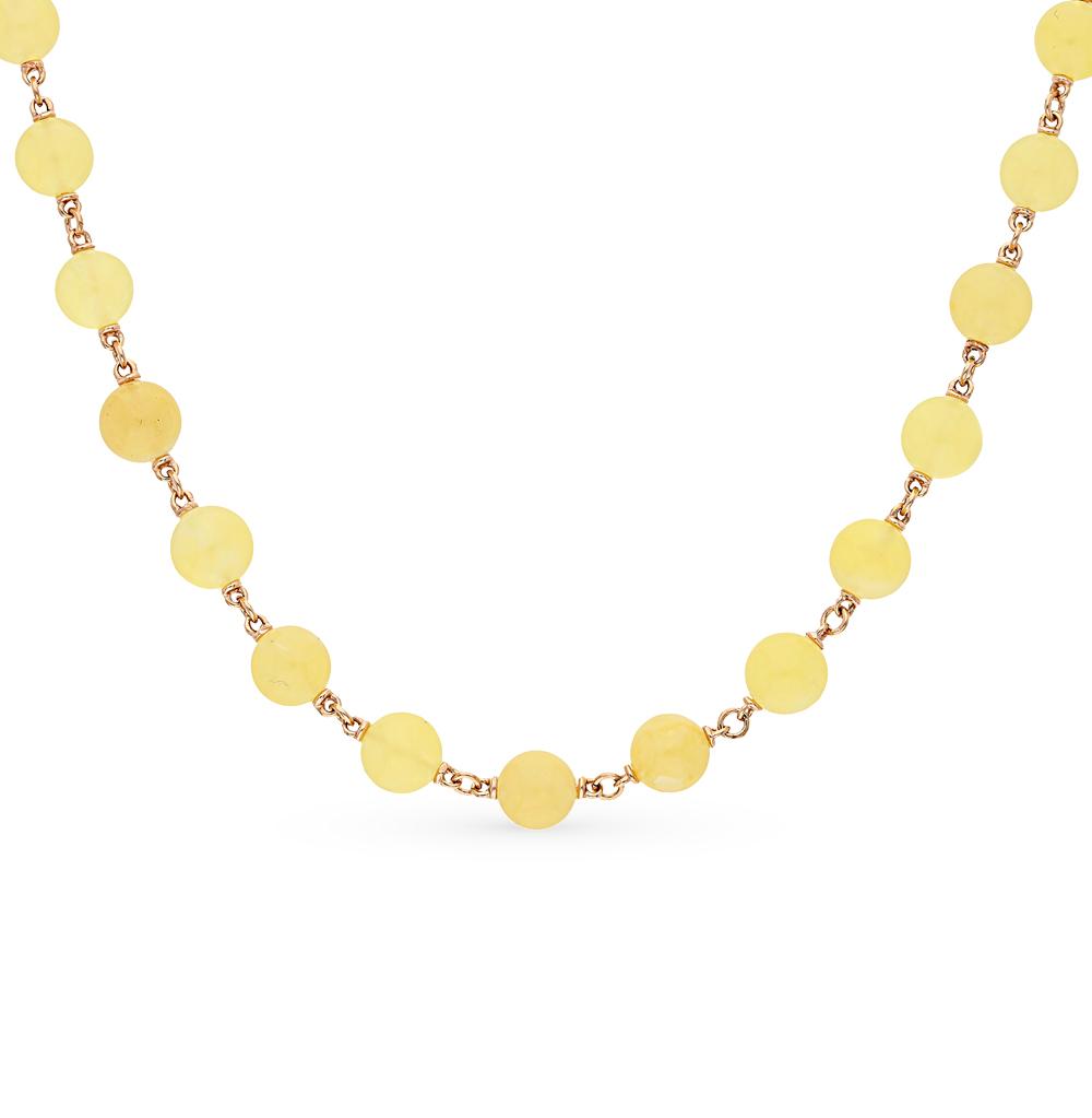 Фото «золото колье с янтарями»