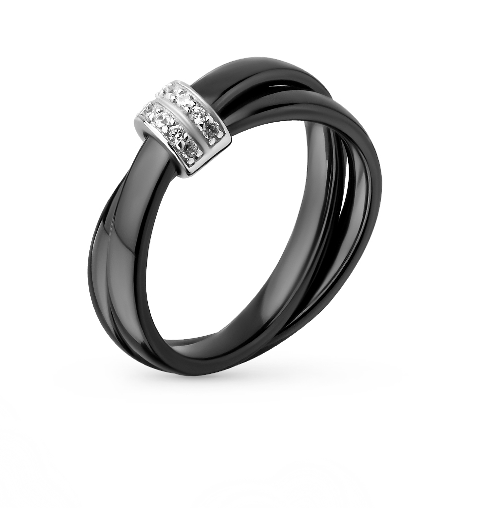 Фото «кольцо с серебром и фианитом»