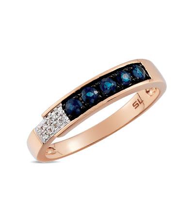 Фото «кольцо с бриллиантами и сапфирами»